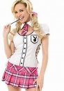 Sexy Halloween Playboy School Girl Outfit Costume