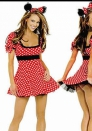 Sexy women minnie mouse outfit mini dress hen night halloween fancy dress costume clothing