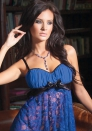 Blue Mesh and Lace Babydoll Set