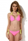 New Sexy Pink Triangle Top with Classic Cut Bottom Bikini Swimwear in Low Price