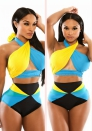Romantic Spandex Polyester Halter Stretch Bikini & Beachwear
