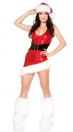 Red Backless Mini Dress with hat With Leg Sets Christmas Costumes