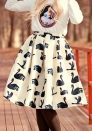Fashion Lolita Style Ball Gown Animal Print Empire Knee-Length Skirts