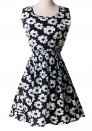 A11 Bohemian Cute Beach O-Neck Sleeveless Ball Gown short skirts Print Dresses