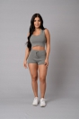Gray Active Fashion Streetwear Polyester Rayon Activewear