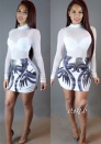 White Brief Cute Sexy & Club Turtleneck Full Sheath short skirts Casual Dresses
