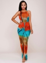 As Show Sexy & Club Beach O-Neck Sleeveless Spaghetti Strap Sheath Floor-Length Maxi Dresses