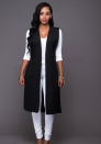 Black Fashion Solid Vests & Waistcoats