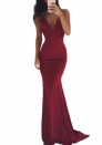 Women's Sleeveless Spaghetti Strap Backless Maxi Dress