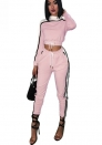 Womens Activewear Sports Set Crop Top + Skinny Pants Outfits Tracksuits