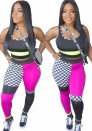 Womens 2 Piece Outfits Bodycon Pants Suit Set and Sleeveless Tank Crop Top Jumpsuit Rompers Casual Clubwear