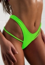 Women Sexy Stretchy Cross Bandage Strap Bikini Bottoms Underwear Swimming Lingerie Thong