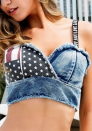 Women's Sexy Denim Thong Cheeky Jeans Shorts Panty Thong