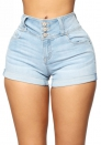 Women's High Waisted Jean Shorts Frayed Raw Hem Ripped Denim Shorts