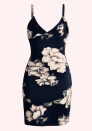 Women Casual Floral Swing Skater Mini Cocktail Slip Dress Sexy Cute Spaghetti Strap Sundresses