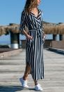 Women's Kaitlyn Flutter Sleeve Button Front Maxi Dress