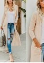 Women's Open Front Cable Knit Oversized Long Cardigan Sweaters Outwear Coat with Pockets