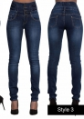 Women Super High Waisted Stretchy Skinny Jeans (S-XXL)