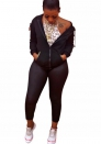 Womens Striped Two Pieces Velour Tracksuit Sets Zip Up Hooded Jacket and Long Sweatpants Sweatsuit