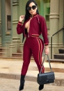 Women's 2 Pieces Long Sleeve+Long Pants Sweat Suit Set Tracksuit