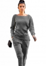 women's fashion Urban casual sweater two-piece set