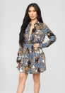Women's 2pcs Printed LongSleeve Dress