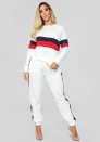 women's sportsuit Mixed colors casual two-piece