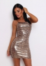 Women's Sexy Pu Serpentine hip Dress