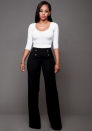 Women pants Personalized double-breasted trumpet trousers