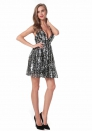Women's Sequined halter strap dress