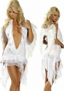 Costplaying Angel demon costume Halloween Party Night DS Costume Skirt + thong + wings