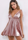 Women's sex nightdress deep V sling skirt sleepwear