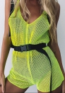 Women's Sexy perspective halter mesh sleeveless sling jumpsuit
