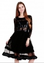 Women's lace dress long seleeves party dress