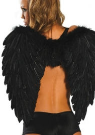 Roma Womens Christmas Angel Costume White Feather Wings