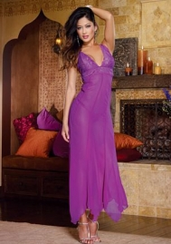 Purple Gown & Long Dress