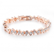 S-type diamond rose gold bracelet
