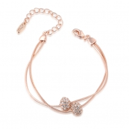 Rose gold double iron bead bracelet