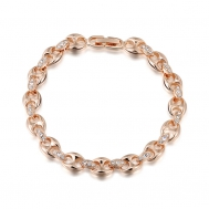 Rose gold bracelet with two holes