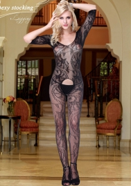 Enticement Intrigue Crazy Black Stockings