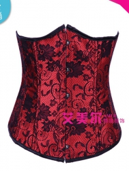 Red OverBust Bustiers & Corsets