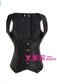 Black OverBust Bustiers & Corsets