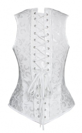 White OverBust Bustiers & Corsets