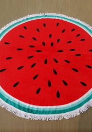 Cute Watermelon Tapestry Travel Picnic Tablecloth Quick Dry Yoga Mat Beach Bikini Cover Up Beach Throw