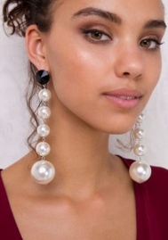 (3 Pieces,$6.05 Only) Freshwater Cultured Diamond Accent Pearl Drop Earrings