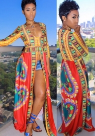 Women's Vintage Ethnic Traditional Africa Side Open Dashiki Dress