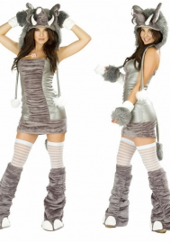 Halloween/Christmas Silver costumes ape clothing