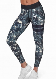 Women's Lace Pattern Best Print Soft Yoga Leggings Stretchy Capris
