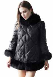 Womens Jacket Hooded Winter Faux Fur Outdoor Coats