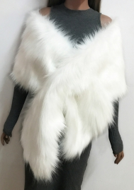 Women's Winter Fake Faux Fur Scarf Wrap Collar Shawl Shrug